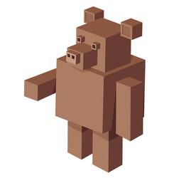 cubical bear cartoon character vector image