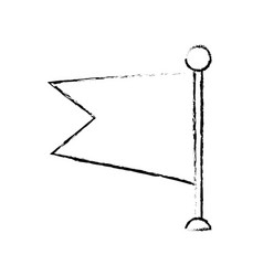 flag ribbon banner message blank sketch vector image