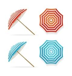 Sun Umbrella Set vector image vector image