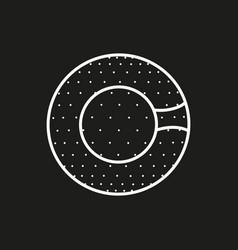 symbol of a zorbing ball icon on black background vector image