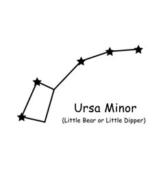 1270 ursa minor constellation vector