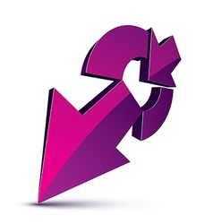 3d abstract symbol with an arrow Business growth vector image