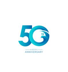 50 years anniversary bird model template design vector