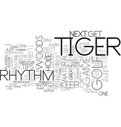 a few golf tips from tiger woods text word cloud vector image