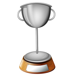 A gray cup trophy vector