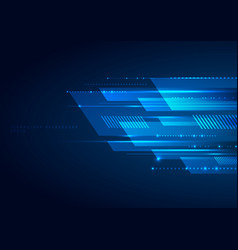 Abstract blue geometric lines overlapping layer vector