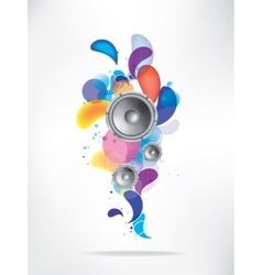 Abstract colored musical background vector
