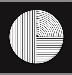 Abstract geometric line circle minimalist design vector