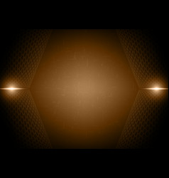 Abstract light ray hexagon technology digital vector