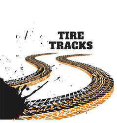 Abstract racing tire tracks print marks background vector