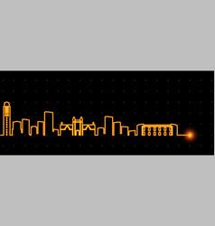 ann arbor light streak skyline vector image
