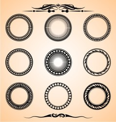 Artistic circle set vector