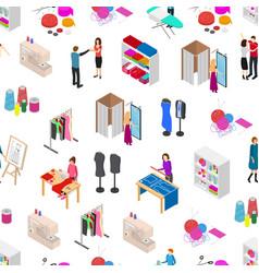 Atelier studio concept seamless pattern background vector