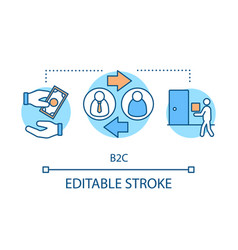 B2c concept icon vector
