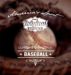 Baseball original sport vector