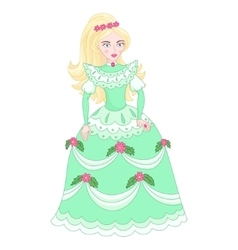 Beautiful blonde princess in vector