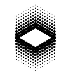 Black abstract halftone background art vector