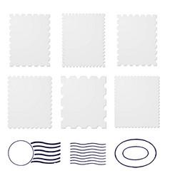 blank postage stamps frames vector image