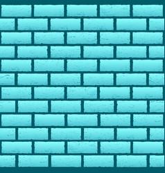 blue azure brick texture background vector image