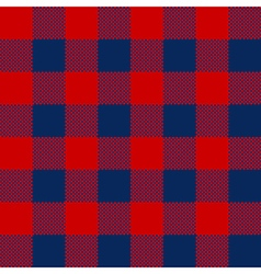 Blue red check pattern seamless fabric texture vector image