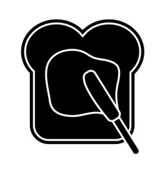 Bread with marmalade icon vector