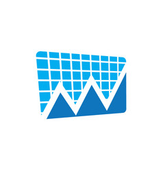 Business finance chart arrow vector