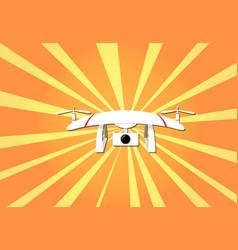 camera drone on sunshine background design vector image