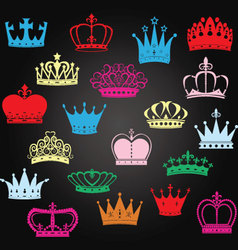 Chalkboard Crown SilhouettePrincess Crown vector