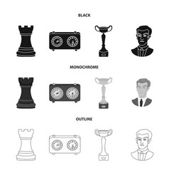 checkmate and thin logo vector image