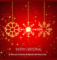 Chrismtas card with red pattern background vector