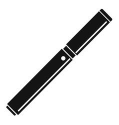 Closed vape pen icon simple style vector