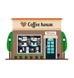 coffee house store front vector image