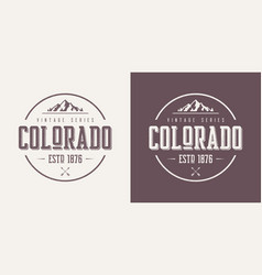 Colorado state textured vintage t-shirt and vector