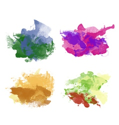colorful watercolor backgrounds vector image