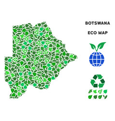 eco green collage botswana map vector image