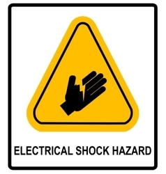Electrical Shock Hazard symbol vector
