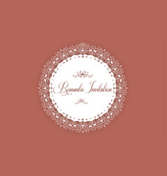 elegant invitation card with cutout paper lace vector image