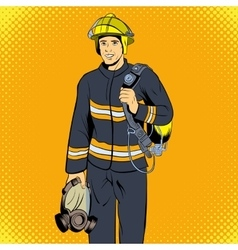 Firefighter comics character vector image