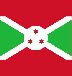 flag in colors of burundi image vector image