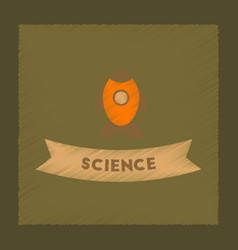 Flat shading style icon rocket science vector