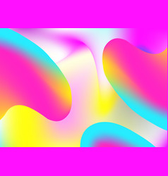 fluid shape background with liquid dynamic vector image