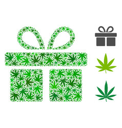 Gift collage of marijuana vector
