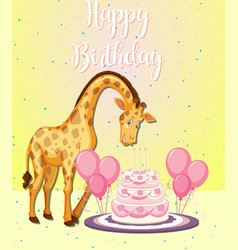 giraffe at a party vector image