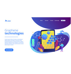 graphene technologies concept landing page vector image