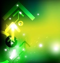 green arrow abstract design vector image