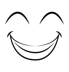 happy face emoticon isolated icon design vector image