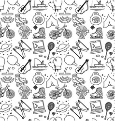 hobbies men objects sport tourism coding vector image