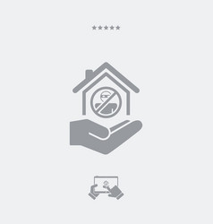 Home protection services - minimal icon vector