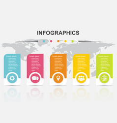 Infographic design template regtangle banners vector