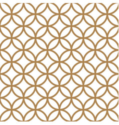japanese gold background and pattern geometric vector image